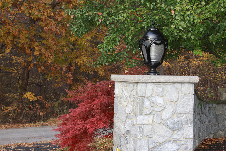 K136 Regency Installation Photo on a Stone Wall in Pittsburg, PA