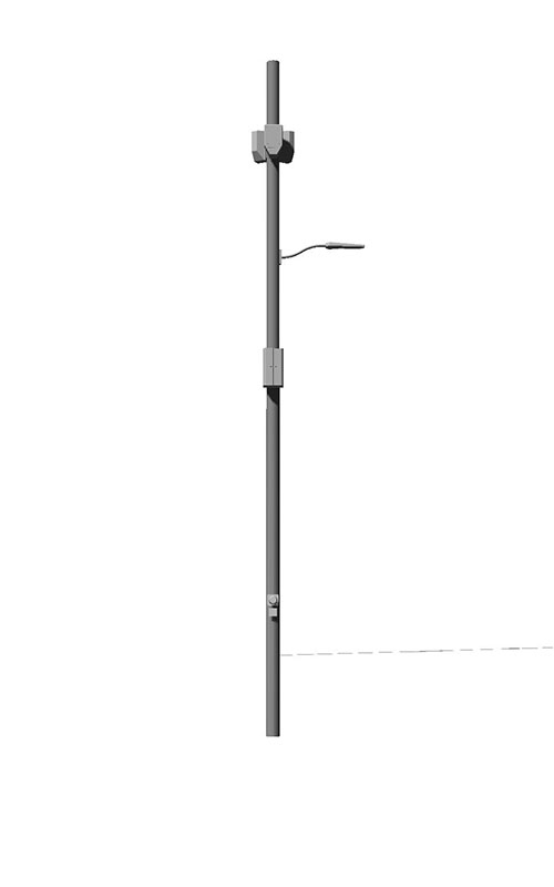 The King Metal Small Cell Pole Direct Embedment Option